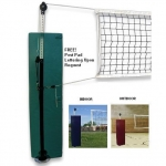 Quick Set Semi Permanent Backyard Volleyball Set W Sockets | FREE SHIPPING