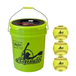 Rawlings Fastpitch Softball Bucket With 18 NCAA Softballs