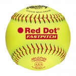 "Rawlings PX11RYLA 11"" Pro Leather Red Dot Softballs (Dozen)"