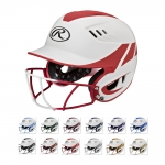 Rawlings Velo Series Two Tone Home Softball Batting Helmet With Face Mask