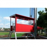 Removeable Side Curtain /Enclosure For Coaching Tower