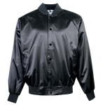 Augusta Satin Baseball Jacket/solid Trim
