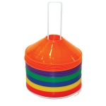 SAUCER CONES - Small Disc Cones Rainbow Colors Set Of 48