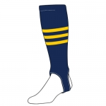 Single Pair Order Triple Stripe Navy with Gold Stripes 700 PRO Adult Stirrups