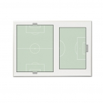 Soccer Premier Wall Mounted Magnetic Coaching Board - USA Made! [Free Accessories Included]