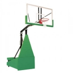 "Storm Arena Portable Basketball System 42"" x 72"" Temp. Glass Backboard"
