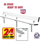 Surface Mount Aluminum Bench With Backrest