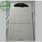 "Tennis Dry Erase Coaching Board 9.5"" X 15.5"""