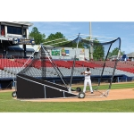 The Big League Bomber Pro Portable Baseball Batting Cage