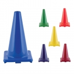 Traffic Cones - Flexible Vinyl Game Cones 18 Inch Height
