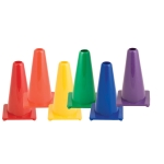 Traffic Cones - Flexible Vinyl Game Cones 9 Inch Height