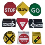 Traffic Safety Sign Set Of 36