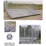 VIP Series Bleachers With Vertical Rail Fence