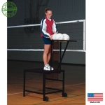 Volleyball Spike/Set Stand With Ball Rack