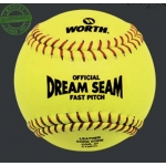 Worth Official Dream Seam Fastpitch Leather Softball (Dozen)