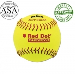 "Worth Red Dot 12"" Official ASA / NFHS Yellow (Dozen)"